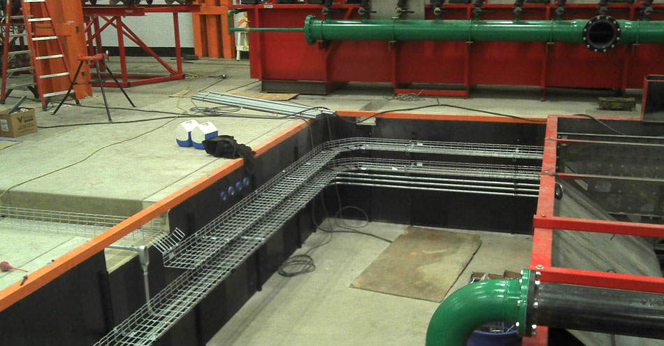 Eaton Steel: Cable Tray System in Cooling Pit